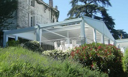 A frame retractable awning