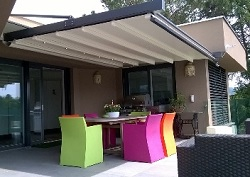 Cantilevered retractable weather proof cover