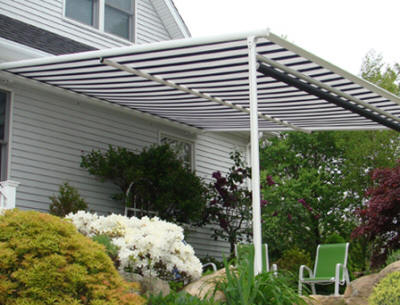 The Pinnacle Is A Cassette Style Retractable Awning. The Stationary  Framework And Optional Front Posts Make This Pergola Awning