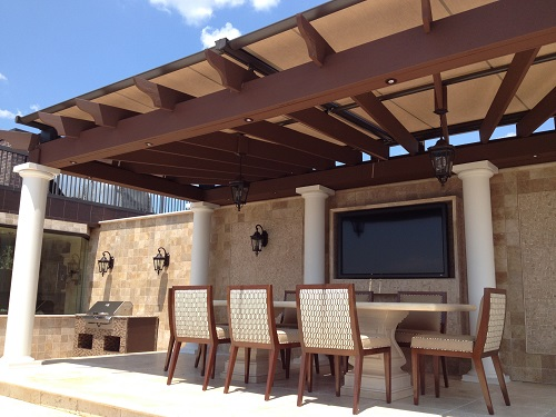 king usa deck retractable structure weatherproof pa pittsburgh awning awnings head pergola